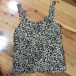 Animal print tank size 4 H&M Divided